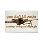 MONKEYS WITH GUNS... Rectangle Magnet (100 pack)