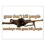 MONKEYS WITH GUNS... Small Poster