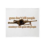 MONKEYS WITH GUNS... Throw Blanket