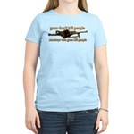MONKEYS WITH GUNS... Women's Light T-Shirt