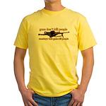 MONKEYS WITH GUNS... Yellow T-Shirt