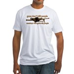 MONKEYS WITH GUNS... Fitted T-Shirt
