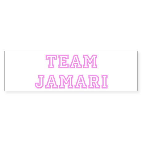 Pink team Jamari Bumper Sticker