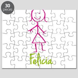Felicia-cute-stick-girl Puzzle