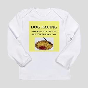 dog racing Long Sleeve Infant T-Shirt