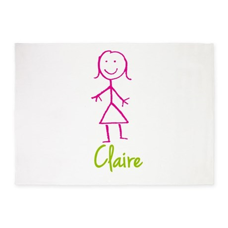 Claire-cute-stick-girl 5'x7'Area Rug