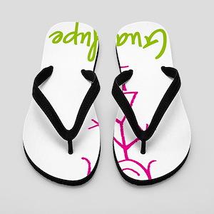 Guadalupe-cute-stick-girl Flip Flops