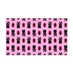 Pink Cat Paw Pattern 35x21 Wall Decal