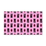 Pink Cat Paw Pattern 20x12 Wall Decal