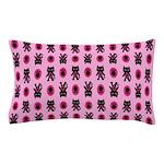 Pink Cat Paw Pattern Pillow Case