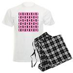 Pink Cat Paw Pattern Men's Light Pajamas