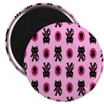 Pink Cat Paw Pattern 2.25