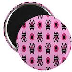 Pink Cat Paw Pattern Magnet
