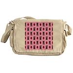 Pink Cat Paw Pattern Messenger Bag