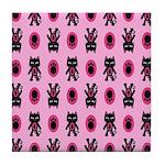 Pink Cat Paw Pattern Tile Coaster