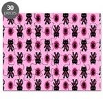 Pink Cat Paw Pattern Puzzle