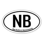 New Bedford, Massachusetts Oval Sticker