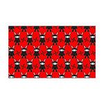 Red Black Ninja Bunny 35x21 Wall Decal