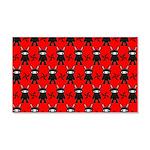 Red Black Ninja Bunny 20x12 Wall Decal