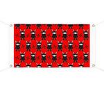 Red Black Ninja Bunny Banner