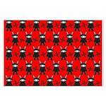 Red Black Ninja Bunny Large Poster