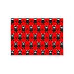 Red Black Ninja Bunny 5'x7'Area Rug