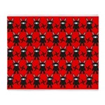 Red Black Ninja Bunny Throw Blanket