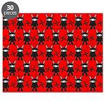 Red Black Ninja Bunny Puzzle