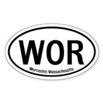 Worcester, Massachusetts Oval Sticker