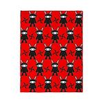 Red Black Ninja Bunny Twin Duvet