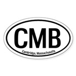 Cambridge, Massachusetts Oval Sticker