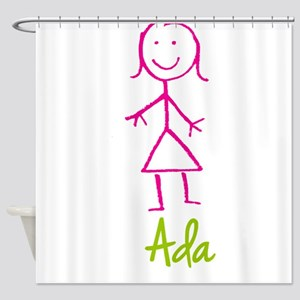 Ada Cute Stick Girl Shower Curtain