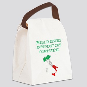 Italian Proverb Envy Pity Canvas Lunch Bag