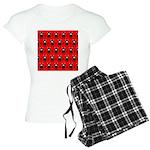 Red Black Ninja Bunny Women's Light Pajamas