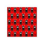 Red Black Ninja Bunny Square Sticker 3