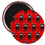 Red Black Ninja Bunny Magnet
