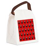 Red Black Ninja Bunny Canvas Lunch Bag