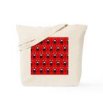 Red Black Ninja Bunny Tote Bag