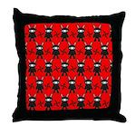 Red Black Ninja Bunny Throw Pillow
