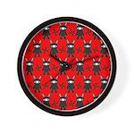 Red Black Ninja Bunny Wall Clock
