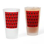 Red Black Ninja Bunny Drinking Glass