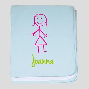 Joanna-cute-stick-girl baby blanket