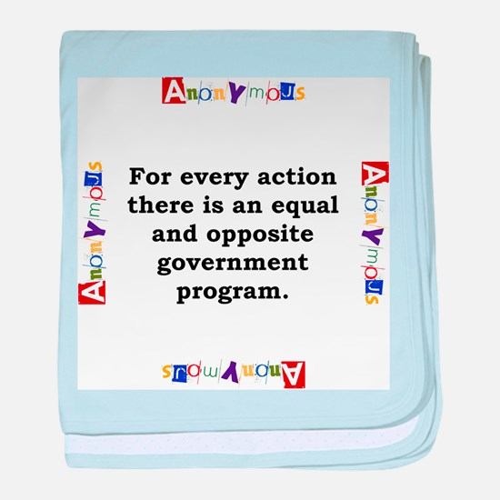 For Every Action - Anonymous baby blanket