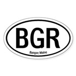 Bangor, Maine Oval Sticker