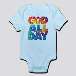 GOD ALL DAY Tie Dye Infant Bodysuit