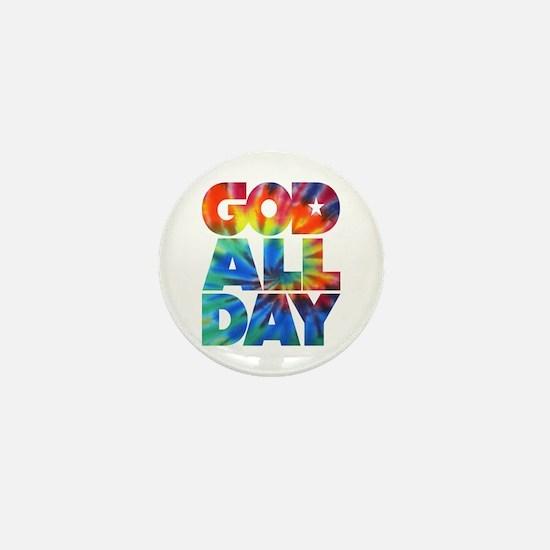 GOD ALL DAY Tie Dye Mini Button