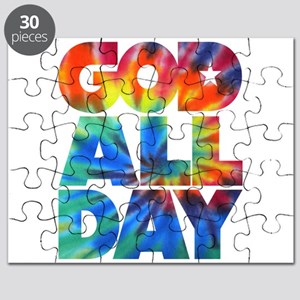 GOD ALL DAY Tie Dye Puzzle
