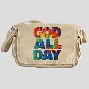 GOD ALL DAY Tie Dye Messenger Bag