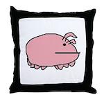 Sea Pig Throw Pillow