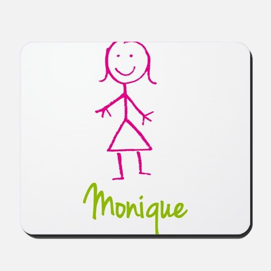 Monique-cute-stick-girl.png Mousepad